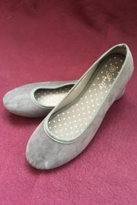 Pretty szare zamszowe zamsz balerinki baleriny buty damskie...