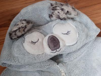 Piżamki Ocieplana piżamka jednoczęściowa dziecięca koala