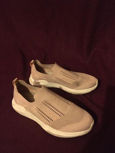 Trampki Pudrowy brudny róż pastelowe wsuwane tenisówki trampki adidasy buty sportowe codzienne cichobiegi
