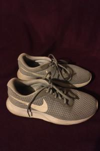 Nike tanjun szare siatka sportowe buty do biegania trampki tenisówki adidasy najki