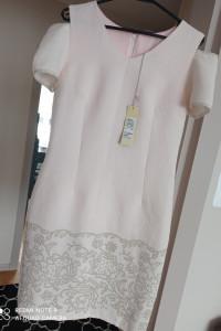 Nowa sukienka pudrowy roz