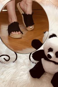 Sandały espadryle z frędzlami H&M