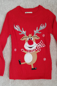 Sweter House świąteczny renifer czerwony nowy...