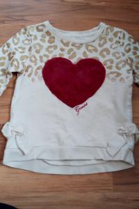 Bluza Guess dla dziewczynki panterka serduszko