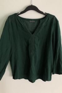 Butelkowa zieleń bluzka