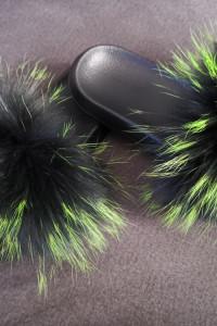 Nowe klapki z naturalnym futrem lisa 27cm wkładka nowe puszyste