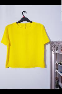 Żółta bluzka koszulowa...