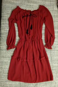 Sukienka bordowa M...
