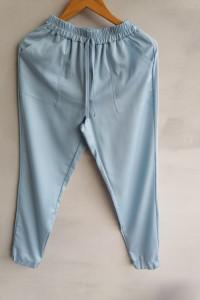 Spodnie ze ściągaczami wiązane niebieskie 3436...