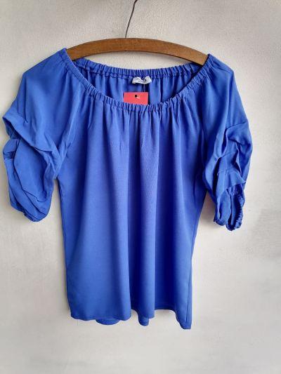 Bluzki Bluzka hiszpanka bufki kobalt 3840