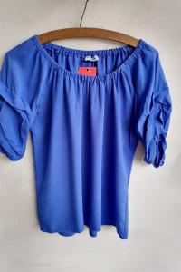 Bluzka hiszpanka bufki kobalt 3840