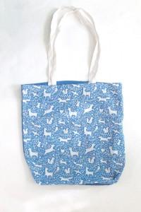 eko torba duża niebieska torba na ramię