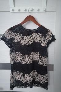koronkowy tshirt