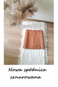 Ruda karmelowa nowa spódnica sznurowana L XL...