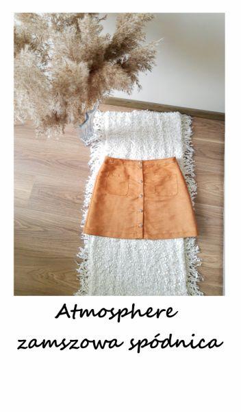 Spódnice Spódnica z guzikami Atmosphere zamszowa kieszenie L XL