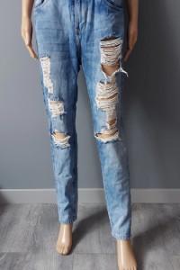 Spodnie Jeans Dziury Przetarcia Rurki 36 S...