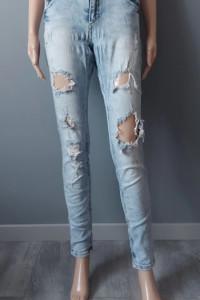 Spodnie Jeansowe Jeans Dziury Rurki FB SISTER 40 42 L XL