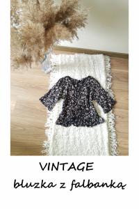 Crop top bluzeczka w kwiaty vintage S M...