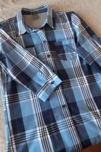 Nowa tunika koszulowa w kratę niebieska 38 M...