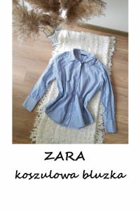 Elegancka koszulowa bluzka w paski ZARA M L basic minimalizm...