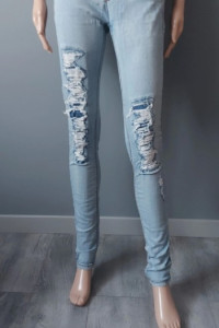 Spodnie Jeans Dziury Przetarcia Rurki Tally Weijl 38 M...