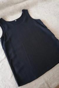 Nowa koszula czarna z domieszką lnu 40 L...