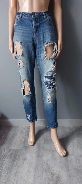 Spodnie Spodnie Jeans Dziury Przetarcia FB SISTER 40 L