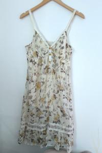 Sukienka letnia kremowa kwiaty M...
