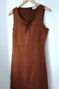 Sukienka brązowa midi ołówkowa M...