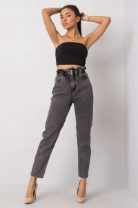 Jeansy Mom Fit Grey