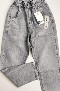 Jeansy Mom Fit Grey...