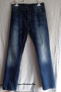 Granatowe jeansy SMOG BASICS...