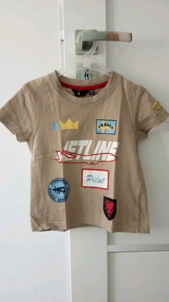 Bluzki Jasnobrązowa bluzeczka na krótki rękaw