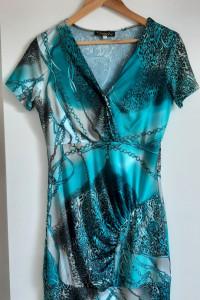 morska sukienka rozmiar M