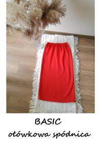 Elegancka ołówkowa czerwona spódnica M L...