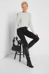 Nowa bluzka bluza Orsay M 38 szara sweter ramiona poduszki...