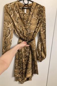 H&M sukienka w wężowy wzór...