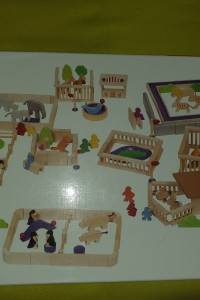 Drewniane ZOO Goki zabawka dla dzieci