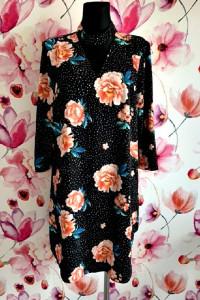 f&f sukienka modny wzór kwiaty groszki jak nowa hit 46...
