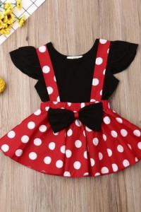 Komplet myszka Miki Minnie Mickey spódniczka na szelkach koszul...
