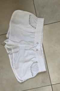 Censored białe nowe szorty spodenki rozmiar L