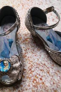 Brokatowe buty Elsa Rozmiar 28