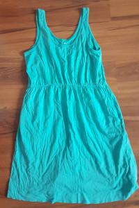 Sukienka niebieska turkusowa h&m 38 M letnia lato przed kolano luźna
