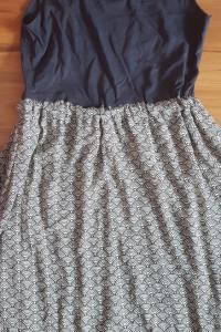 Esprit sukienka granatowa letnia lato na codzień przed kolano midi mini top na ramiączkach S M 36 38