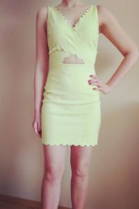 Limonkowa sukienka Top Shop 36...
