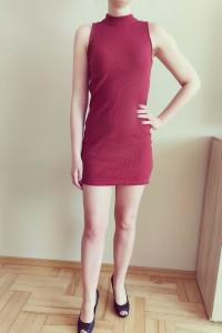 Bordowa obcisła sukienka Reserved 36...