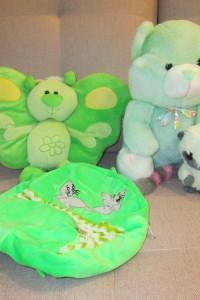Maskotki w zielonej tonacji