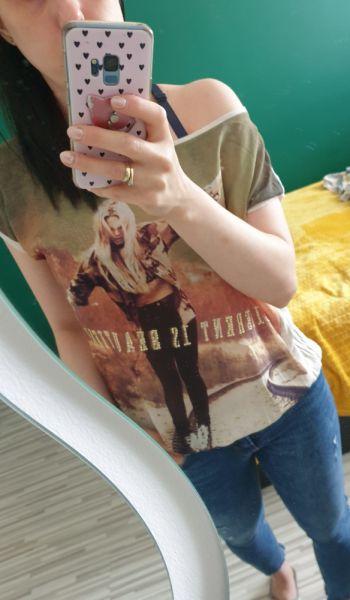 Bluzki Koszulka z opcją na ramie