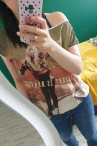 Koszulka z opcją na ramie