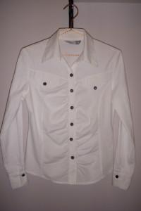 Koszula damska biała taliowana z długim rękawem 36 S fason spor...